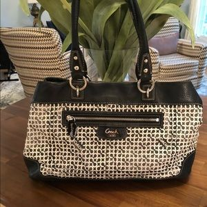 Coach Penelope Op Art Signature Shopper